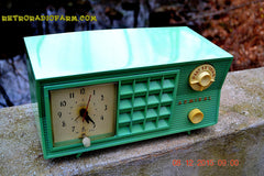 SOLD! - Dec 13, 2015 - BLUETOOTH MP3 Ready - Admiral Model 251 955 AM Tube Radio Pistachio Green Retro Jetsons Mid Century Vintage Totally Restored! , Vintage Radio - Admiral, Retro Radio Farm  - 7