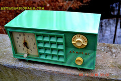 SOLD! - Dec 13, 2015 - BLUETOOTH MP3 Ready - Admiral Model 251 955 AM Tube Radio Pistachio Green Retro Jetsons Mid Century Vintage Totally Restored! , Vintage Radio - Admiral, Retro Radio Farm  - 1