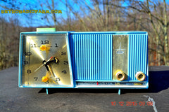 SOLD! - Feb 15, 2016 - Motorola C11G Clock Radio Baby Blue 1960 Tube AM Clock Radio Totally Restored! Rare! , Vintage Radio - Motorola, Retro Radio Farm  - 2