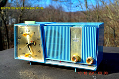 SOLD! - Feb 15, 2016 - Motorola C11G Clock Radio Baby Blue 1960 Tube AM Clock Radio Totally Restored! Rare! , Vintage Radio - Motorola, Retro Radio Farm  - 4