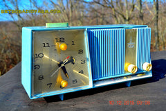 SOLD! - Feb 15, 2016 - Motorola C11G Clock Radio Baby Blue 1960 Tube AM Clock Radio Totally Restored! Rare! , Vintage Radio - Motorola, Retro Radio Farm  - 3