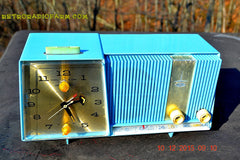 SOLD! - Feb 15, 2016 - Motorola C11G Clock Radio Baby Blue 1960 Tube AM Clock Radio Totally Restored! Rare! , Vintage Radio - Motorola, Retro Radio Farm  - 5