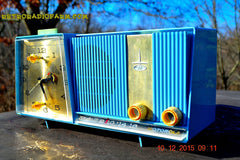 SOLD! - Feb 15, 2016 - Motorola C11G Clock Radio Baby Blue 1960 Tube AM Clock Radio Totally Restored! Rare! , Vintage Radio - Motorola, Retro Radio Farm  - 1