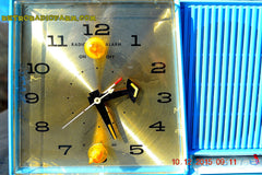 SOLD! - Feb 15, 2016 - Motorola C11G Clock Radio Baby Blue 1960 Tube AM Clock Radio Totally Restored! Rare! , Vintage Radio - Motorola, Retro Radio Farm  - 6