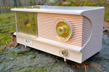 Load image into Gallery viewer, SOLD! - Feb 10. 2016 - POWDER PINK Vintage Antique Mid Century 1961 Arvin Model 51R23 Tube AM Clock Radio Restored and Very Rare! - [product_type} - Arvin - Retro Radio Farm