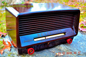SOLD! - Dec 19, 2015 - Vintage Antique Retro 1949 Philco Transitone 50-520 AM Tube Radio Brown Swirly Bakelite Works Great! Wow! - [product_type} - Philco - Retro Radio Farm