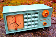 SOLD! - Dec 22, 2015 - BLUETOOTH MP3 Ready - Admiral Model 251 955 AM Tube Radio Pistachio Green Retro Jetsons Mid Century Vintage Totally Restored! , Vintage Radio - Admiral, Retro Radio Farm  - 5