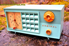 SOLD! - Dec 22, 2015 - BLUETOOTH MP3 Ready - Admiral Model 251 955 AM Tube Radio Pistachio Green Retro Jetsons Mid Century Vintage Totally Restored! , Vintage Radio - Admiral, Retro Radio Farm  - 7