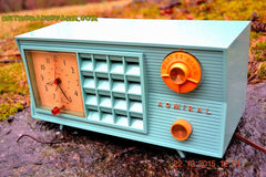 SOLD! - Dec 22, 2015 - BLUETOOTH MP3 Ready - Admiral Model 251 955 AM Tube Radio Pistachio Green Retro Jetsons Mid Century Vintage Totally Restored! , Vintage Radio - Admiral, Retro Radio Farm  - 4