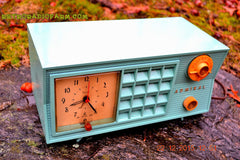 SOLD! - Dec 22, 2015 - BLUETOOTH MP3 Ready - Admiral Model 251 955 AM Tube Radio Pistachio Green Retro Jetsons Mid Century Vintage Totally Restored! , Vintage Radio - Admiral, Retro Radio Farm  - 6