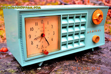 SOLD! - Dec 22, 2015 - BLUETOOTH MP3 Ready - Admiral Model 251 955 AM Tube Radio Pistachio Green Retro Jetsons Mid Century Vintage Totally Restored! - [product_type} - Admiral - Retro Radio Farm