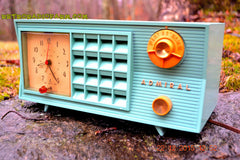 SOLD! - Dec 22, 2015 - BLUETOOTH MP3 Ready - Admiral Model 251 955 AM Tube Radio Pistachio Green Retro Jetsons Mid Century Vintage Totally Restored! , Vintage Radio - Admiral, Retro Radio Farm  - 2