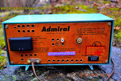 SOLD! - Dec 22, 2015 - BLUETOOTH MP3 Ready - Admiral Model 251 955 AM Tube Radio Pistachio Green Retro Jetsons Mid Century Vintage Totally Restored! , Vintage Radio - Admiral, Retro Radio Farm  - 11