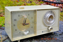 Load image into Gallery viewer, SOLD! - Feb 20, 2016 - OLIVE TAUPE Mid Century Jetsons 1959 General Electric Model C-305A Tube AM Clock Radio Totally Restored! - [product_type} - General Electric - Retro Radio Farm