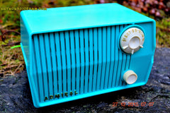 BLUETOOTH MP3 READY - DEFINITELY TURQUOISE Mid Century Retro Jetsons Vintage 1959 Emerson Model 4L2A Tube Radio Totally Restored! , Vintage Radio - Emerson, Retro Radio Farm  - 3