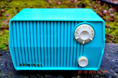 BLUETOOTH MP3 READY - DEFINITELY TURQUOISE Mid Century Retro Jetsons Vintage 1959 Emerson Model 4L2A Tube Radio Totally Restored! , Vintage Radio - Emerson, Retro Radio Farm  - 2