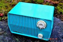Load image into Gallery viewer, SOLD! - Feb 19, 2016 - BLUETOOTH MP3 READY - DEFINITELY TURQUOISE Mid Century Vintage 1959 Emerson Model 4L2A Tube Radio - [product_type} - Emerson - Retro Radio Farm