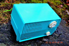 SOLD! - Feb 19, 2016 - BLUETOOTH MP3 READY - DEFINITELY TURQUOISE Mid Century Retro Jetsons Vintage 1959 Emerson Model 4L2A Tube Radio Totally Restored! , Vintage Radio - Emerson, Retro Radio Farm  - 4