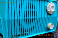 SOLD! - Feb 19, 2016 - BLUETOOTH MP3 READY - DEFINITELY TURQUOISE Mid Century Retro Jetsons Vintage 1959 Emerson Model 4L2A Tube Radio Totally Restored! , Vintage Radio - Emerson, Retro Radio Farm  - 6