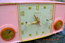 Load image into Gallery viewer, SOLD! - Mar 5, 2016 - PINK MARTINI Vintage Mid Century Retro Jetsons 1959 Bulova Model 170 Tube AM Clock Radio WORKS! - [product_type} - Bulova - Retro Radio Farm
