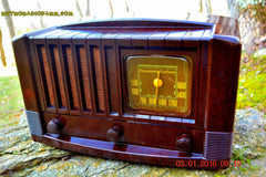 SOLD! - Feb 14, 2016 - BIG BROWN BAKELITE Art Deco Vintage Industrial Age 1948 Stromberg Carlson Model 1100 Tube Radio Totally Restored , Vintage Radio - Stromberg Carlson, Retro Radio Farm  - 4