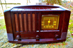 SOLD! - Feb 14, 2016 - BIG BROWN BAKELITE Art Deco Vintage Industrial Age 1948 Stromberg Carlson Model 1100 Tube Radio Totally Restored , Vintage Radio - Stromberg Carlson, Retro Radio Farm  - 5