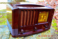 SOLD! - Feb 14, 2016 - BIG BROWN BAKELITE Art Deco Vintage Industrial Age 1948 Stromberg Carlson Model 1100 Tube Radio Totally Restored , Vintage Radio - Stromberg Carlson, Retro Radio Farm  - 2