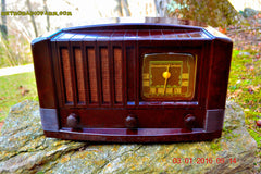 SOLD! - Feb 14, 2016 - BIG BROWN BAKELITE Art Deco Vintage Industrial Age 1948 Stromberg Carlson Model 1100 Tube Radio Totally Restored , Vintage Radio - Stromberg Carlson, Retro Radio Farm  - 6