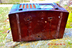 SOLD! - Feb 14, 2016 - BIG BROWN BAKELITE Art Deco Vintage Industrial Age 1948 Stromberg Carlson Model 1100 Tube Radio Totally Restored , Vintage Radio - Stromberg Carlson, Retro Radio Farm  - 10