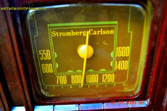 SOLD! - Feb 14, 2016 - BIG BROWN BAKELITE Art Deco Vintage Industrial Age 1948 Stromberg Carlson Model 1100 Tube Radio Totally Restored , Vintage Radio - Stromberg Carlson, Retro Radio Farm  - 9