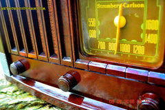 SOLD! - Feb 14, 2016 - BIG BROWN BAKELITE Art Deco Vintage Industrial Age 1948 Stromberg Carlson Model 1100 Tube Radio Totally Restored , Vintage Radio - Stromberg Carlson, Retro Radio Farm  - 7