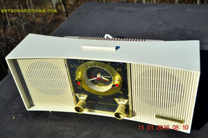 SOLD! - Apr 22, 2016 - BLUETOOTH MP3 READY - Mid Century Retro Ivory 1965 Wards Airline Model 1824A Tube Radio Totally Restored! - [product_type} - Airline - Retro Radio Farm