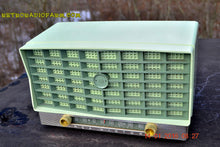 Load image into Gallery viewer, SOLD! - Jan 17, 2016 - BLUETOOTH MP3 READY - Pistachio Green Retro Jetsons Vintage 1953 RCA Victor S-XD-5 Tube Radio Works Great! - [product_type} - RCA Victor - Retro Radio Farm