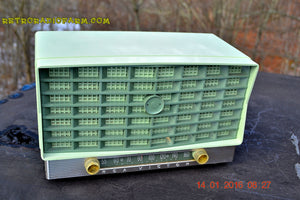 SOLD! - Jan 17, 2016 - BLUETOOTH MP3 READY - Pistachio Green Retro Jetsons Vintage 1953 RCA Victor S-XD-5 Tube Radio Works Great! - [product_type} - RCA Victor - Retro Radio Farm