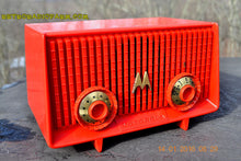 Load image into Gallery viewer, Motorola 56R Bright Red 1957 AM Tube Radio Mid Century Vintage Rare! Works Great! , Vintage Radio - Motorola, Retro Radio Farm  - 6
