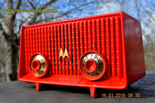 Load image into Gallery viewer, Motorola 56R Bright Red 1957 AM Tube Radio Mid Century Vintage Rare! Works Great! , Vintage Radio - Motorola, Retro Radio Farm  - 8