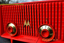 Load image into Gallery viewer, Motorola 56R Bright Red 1957 AM Tube Radio Mid Century Vintage Rare! Works Great! , Vintage Radio - Motorola, Retro Radio Farm  - 9