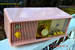 SOLD! - Mar 3, 2016 - MARILYN PINK Retro Jetsons 1957 Motorola 57CC Tube AM Clock Radio Totally Restored! , Vintage Radio - Motorola, Retro Radio Farm  - 7