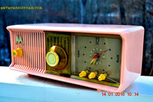 Load image into Gallery viewer, SOLD! - Mar 3, 2016 - MARILYN PINK Retro Jetsons 1957 Motorola 57CC Tube AM Clock Radio Totally Restored! - [product_type} - Motorola - Retro Radio Farm