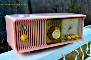 SOLD! - Mar 3, 2016 - MARILYN PINK Retro Jetsons 1957 Motorola 57CC Tube AM Clock Radio Totally Restored! , Vintage Radio - Motorola, Retro Radio Farm  - 2