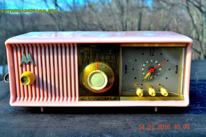 SOLD! - Mar 3, 2016 - MARILYN PINK Retro Jetsons 1957 Motorola 57CC Tube AM Clock Radio Totally Restored! , Vintage Radio - Motorola, Retro Radio Farm  - 3