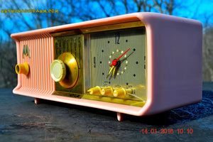 SOLD! - Mar 3, 2016 - MARILYN PINK Retro Jetsons 1957 Motorola 57CC Tube AM Clock Radio Totally Restored! , Vintage Radio - Motorola, Retro Radio Farm  - 9