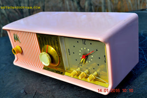 SOLD! - Mar 3, 2016 - MARILYN PINK Retro Jetsons 1957 Motorola 57CC Tube AM Clock Radio Totally Restored! , Vintage Radio - Motorola, Retro Radio Farm  - 8