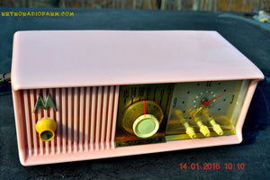 SOLD! - Mar 3, 2016 - MARILYN PINK Retro Jetsons 1957 Motorola 57CC Tube AM Clock Radio Totally Restored! , Vintage Radio - Motorola, Retro Radio Farm  - 11