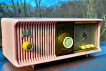 Load image into Gallery viewer, SOLD! - Mar 3, 2016 - MARILYN PINK Retro Jetsons 1957 Motorola 57CC Tube AM Clock Radio Totally Restored! , Vintage Radio - Motorola, Retro Radio Farm  - 5