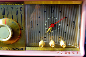 SOLD! - Mar 3, 2016 - MARILYN PINK Retro Jetsons 1957 Motorola 57CC Tube AM Clock Radio Totally Restored! , Vintage Radio - Motorola, Retro Radio Farm  - 12