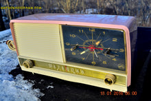 Load image into Gallery viewer, SOLD! - May 3, 2016 - BEAUTIFUL Powder Pink And White Retro Jetsons 1958 RCA Victor 9-C-71 Tube AM Clock Radio Works Great! - [product_type} - Vintage Radio - Retro Radio Farm