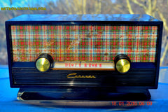 SOLD! - Mar 9, 2016 - SCOTTISH TARTAN Black Retro Vintage 1954 Capehart Model T-54 AM Tube Radio Totally Restored! , Vintage Radio - Capehart, Retro Radio Farm  - 2