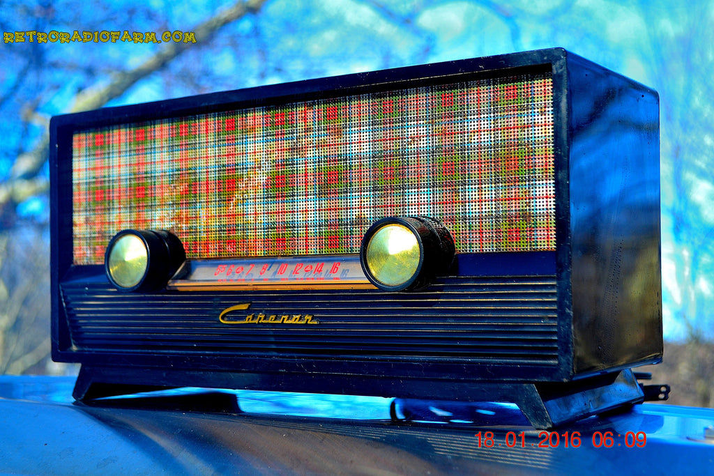 SOLD! - Mar 9, 2016 - SCOTTISH TARTAN Black Retro Vintage 1954 Capehart Model T-54 AM Tube Radio Totally Restored! , Vintage Radio - Capehart, Retro Radio Farm  - 1