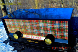 SOLD! - Mar 9, 2016 - SCOTTISH TARTAN Black Retro Vintage 1954 Capehart Model T-54 AM Tube Radio Totally Restored! , Vintage Radio - Capehart, Retro Radio Farm  - 5